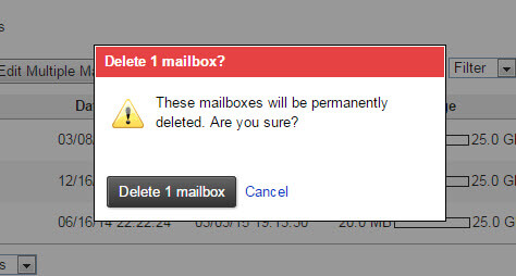 Add and Delete a Professional Mail Email Mailbox Step 6