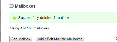 Add and Delete a Professional Mail Email Mailbox Step 7