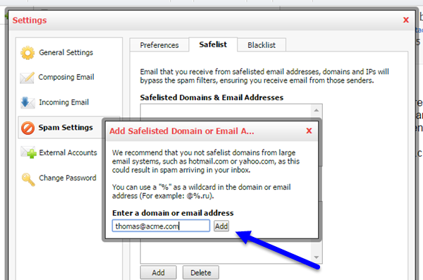 Adding an Email Address to KloudEmail using Professional Email Webmail Step 03