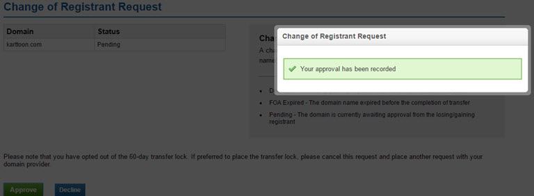 The ICANN Requirement Process of changing your domain name Registrant Contact Details Step 3