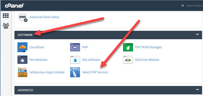 Changing PHP version and setting extensions and setting PHP options with KartHost cPanel hosting packages Step 1