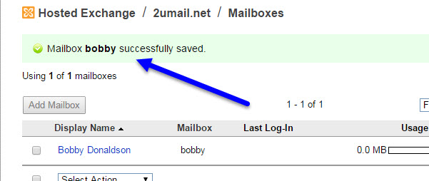 After saving KloudEmail mailbox password make sure you see Successfully Save in KloudEmail Control Panel