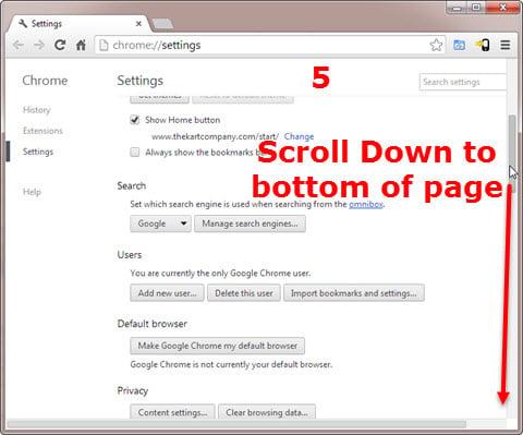 Using Google Chrome -