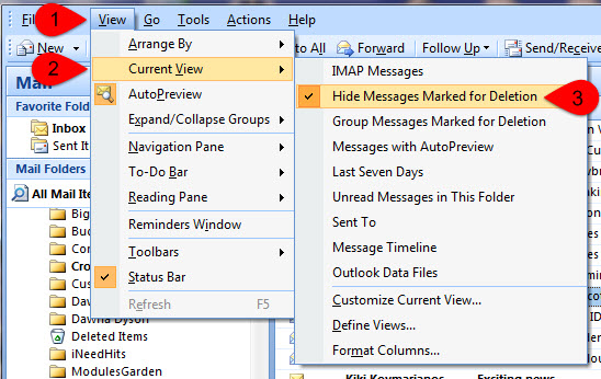 outlook how to permantely delete email messages