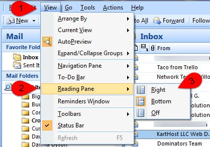 Outlook Set up using Outlook 2007