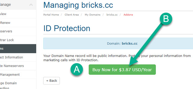 How to Add Domain Name Record ID Protection from KartHost Step 05