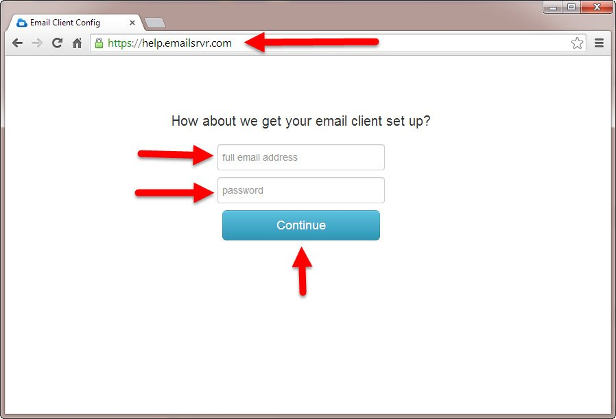 How to use the KartHostKloud Professional Mail Configuration Tool to set up your device Step 1