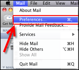 Step 1 to change MD5-Challenge to Password Authentication in Mac Mail