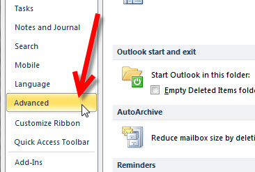 Step 3 Exporting your Outlook 2010 to KartHostKloud Mail