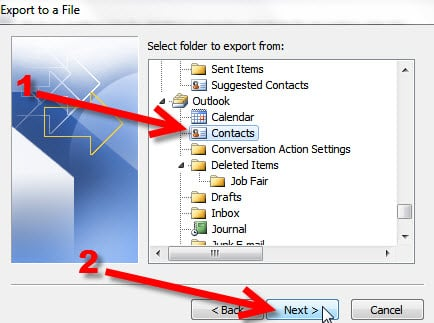 Step 7 Exporting your Outlook 2010 to KartHostKloud Mail