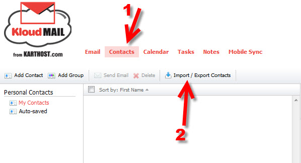Step 10 Exporting your Outlook 2010 to KartHostKloud Mail