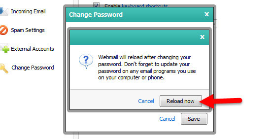 Step 2A Resetting your KloudEmail Webmail Password