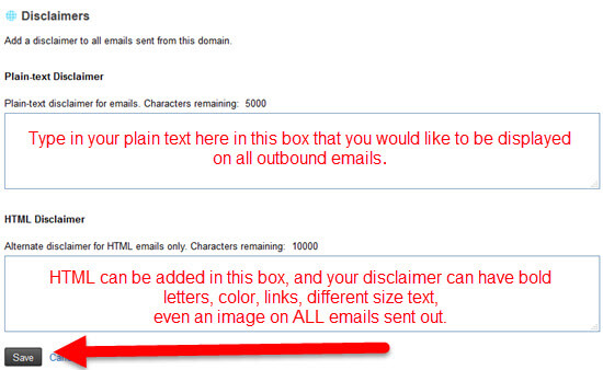 How to set up a Disclaimer for KloudEmail for your Domain