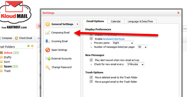Add and Change Signature and Identity in Professional Email Step 2