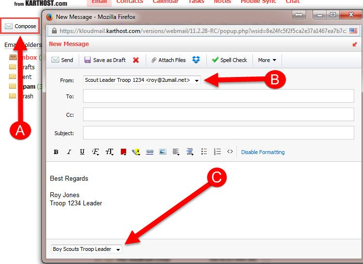 Add and Change Signature and Identity in Professional Email Step 10