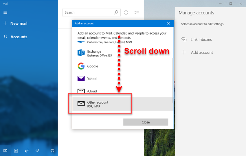Adding KloudEmail Basic or Suite to Windows 10 Mail app Step 03