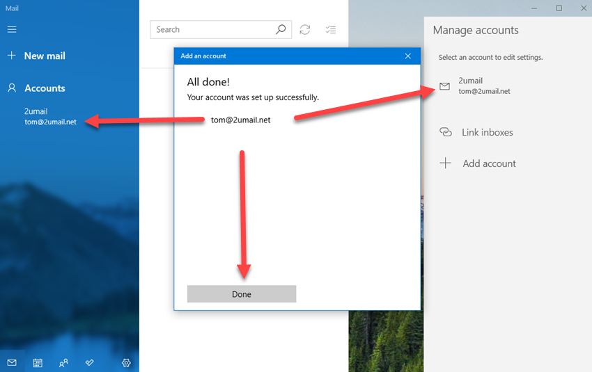 Adding KloudEmail Basic or Suite to Windows 10 Mail app Step 05