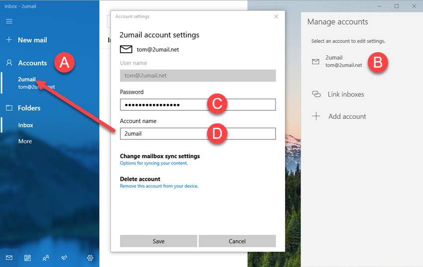 Adding KloudEmail Basic or Suite to Windows 10 Mail app Step 06