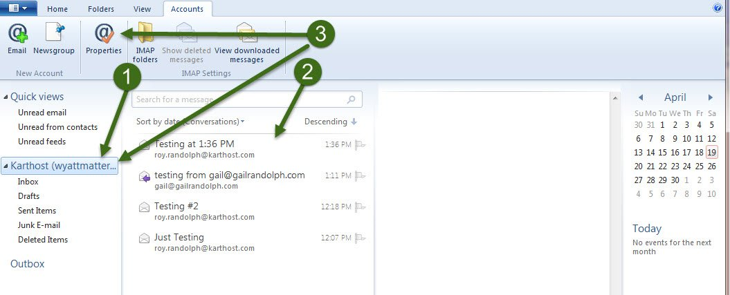 Step 4 How to Setup IMAP using Windows Live Mail