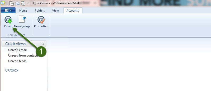 First Step - How to Setup POP using Windows Live Mail