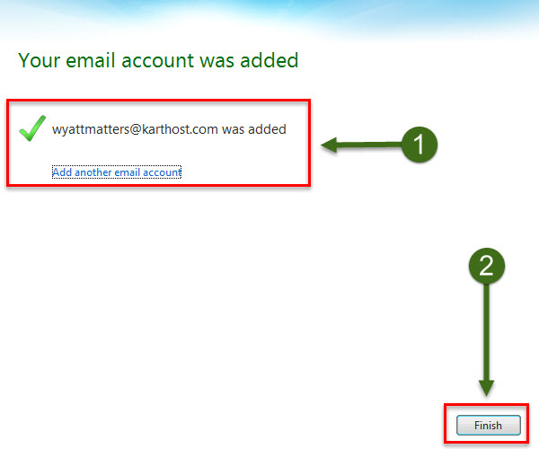 Step 3 - How to Setup POP using Windows Live Mail