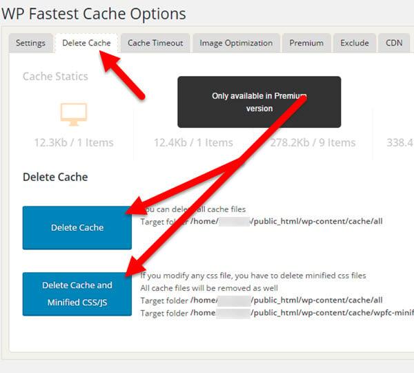 WP Super Cache  Clear all cache  WordPress Plugins