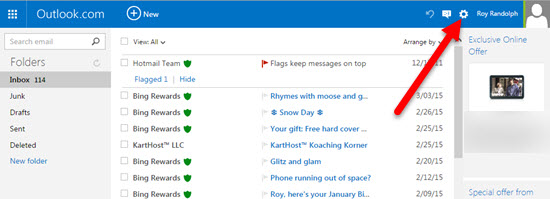 Step 1 How To Forward Your Outlook Live Hotmail