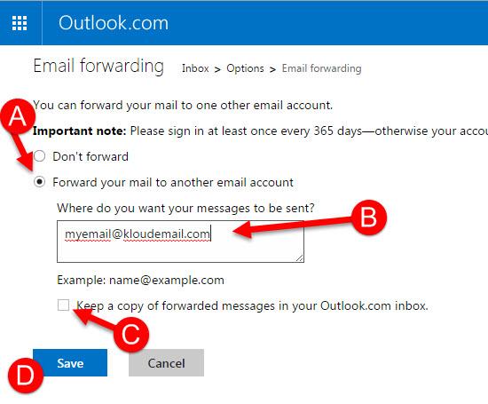can i forward my hotmail com