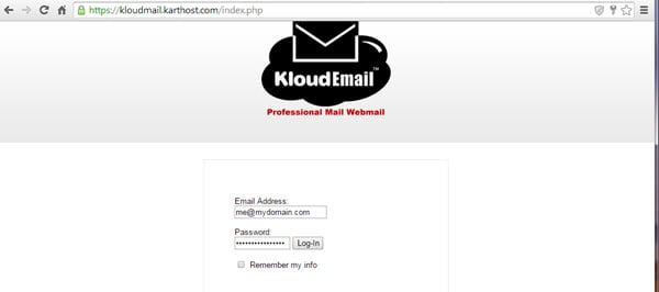 14 Day Backup restore for KloudEmail Professional Mail Step 1