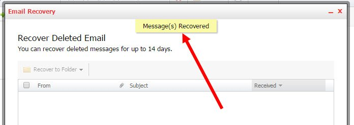 14 Day Backup restore for KloudEmail Professional Mail Final Step 5