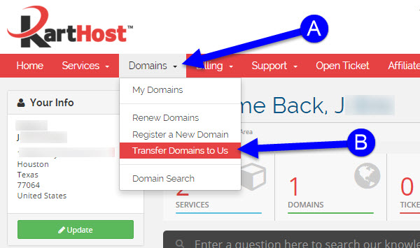 Transfering Your Domain Name from GoDaddy to KartHost Step 11