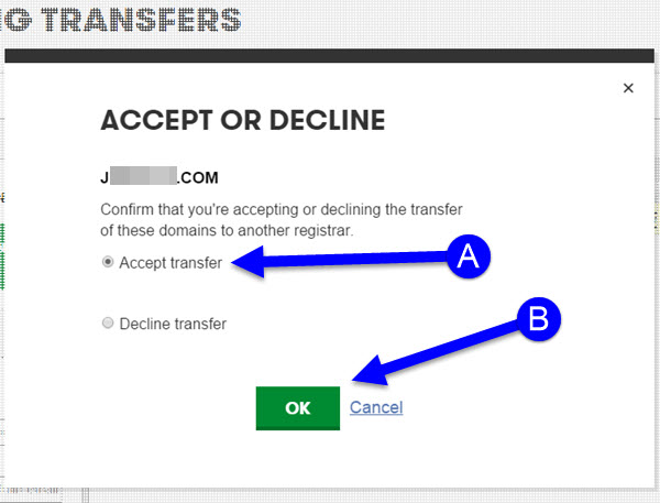 Transfering Your Domain Name from GoDaddy to KartHost Step 18